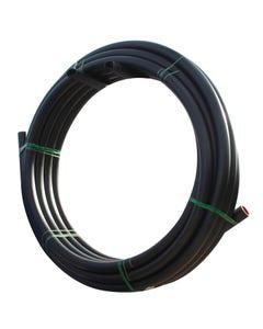 GPS Black MDPE Pipe 25 mm x 100m