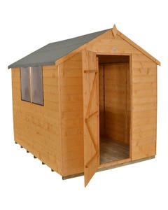 Forest Garden Shiplap Dip Treated Apex Shed 8ft x 6ft - Unassembled