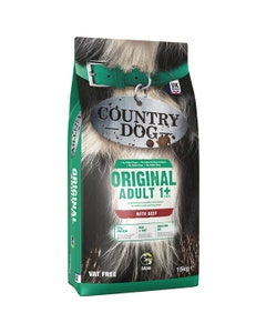 Country Dog Original Adult 1+ With Beef - 15kg