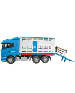 Bruder Toy 35495 Scania R-Series Livestock Transporter With Cow