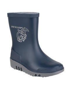 Dunlop Children's Mini Elephant Wellington Boots - Blue/Grey