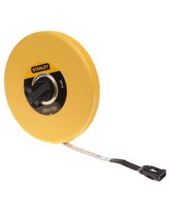Stanley Closed Case Fibreglass Tape - 30M/100FT