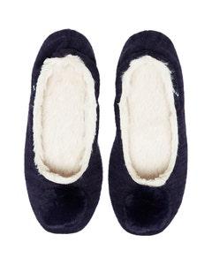 Joules Ladies Pombury Ballet Slippers – Navy