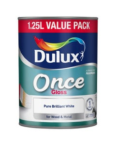 Dulux Once Gloss Pure Brilliant White 1.25L
