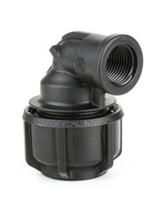 "Philmac Metric/Imperial Elbow POL X F1 BSP 20mm/1/2"" X 1/2"""