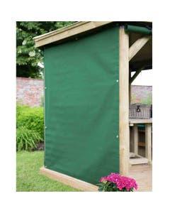 Forest Garden 3.6m Hexagonal Garden Gazebo Curtains Green - Set of 6