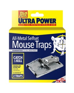 The Big Cheese Ultra Power All Metal Selfset Mouse Trap - Pack of 2