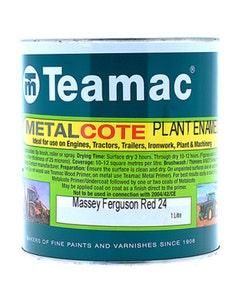 Teamac Massey Ferguson Red Metalcote Plant & Industrial Enamel Paint - 1L
