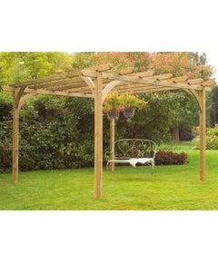Forest Garden Ultima Pergola Kit 3.6m x 3.6m - Unassembled