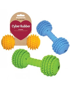 Rosewood Rubber Dumbell Dog Toy - Assorted Colours