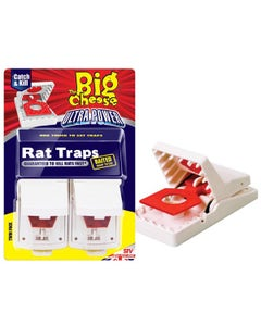 The Big Cheese Ultra Power Rat Traps - Twin Pack