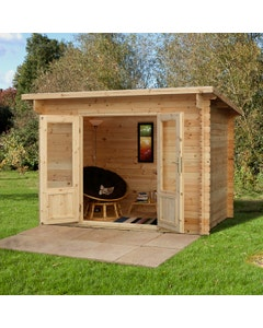 Forest Garden Harwood Log Cabin 2m x 3m 24kg F/R N/U - Unassembled
