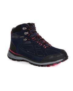 Regatta Ladies Samaris Suede Walking Boots - Navy/Duchess
