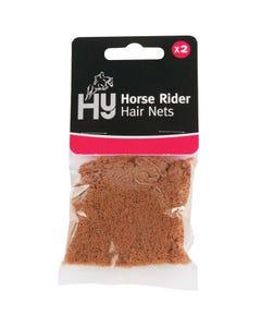 Hy Light Brown Horse Rider Hair Net Standard Weight - Pack of 2