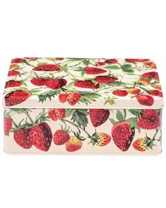 Emma Bridgewater Strawberry Rectangular Biscuit Tin - 320g