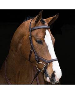 Horseware Rambo Micklem Competition Bridle - Dark Havana Small Horse/Cob