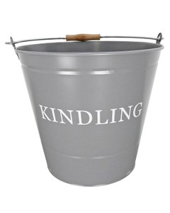 Manor Kindling Bucket - Dark Grey