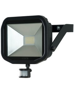 Luceco 38W Slimline Guardian Floodlight with PIR - Black
