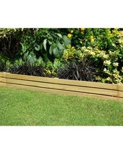 Forest Garden Slatted Edging - 1.2m - Pack of 3