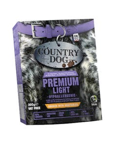 Country Dog Premium Light Adult 1+ Tray Chicken With Vegetables - 395g