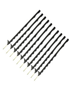 Hotline Black Multiwire 8 Loops Poly Posts - Pack of 10