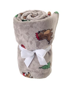Mole Valley Children's Supersoft Blanket - Christmas Dachshund