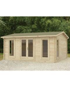 Forest Garden Rushock D/G Log Cabin 5m x 4m 24kg F/R W/U - Unassembled