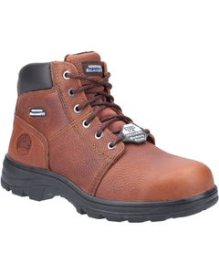 Skechers Mens Workshire Lace Up Safety Boots - Brown