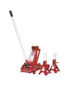 Sealey Trolley Jack and Axle Stand Set - 3 Tonne