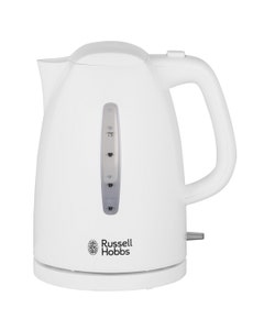 Russell Hobbs Textures Cordless Kettle White - 1.7L