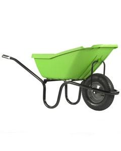 Haemmerlin Polypropylene 'Pick Up' Green Wheelbarrow - 110L