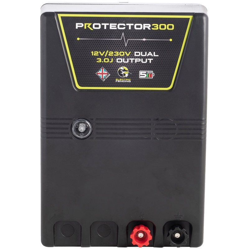 An image of Mole Electric Fencing Protector 300 High Powered Dual Input Energiser