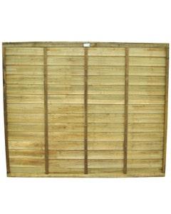 Forest Garden Superlap Fence Panels - 1.83m x 1.52m - Pack of 4