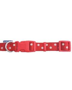 Ancol Vintage Adjustable Polka Dot Collar - Red Medium