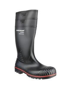 Dunlop Adults Acifort Heavy Duty Full Safety Wellington Boots - Black