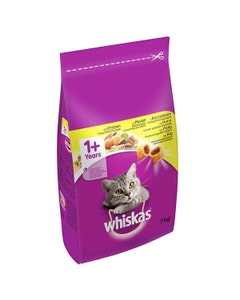 Whiskas 1+ Cat Complete Dry Food With Chicken - 7kg