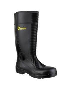 Amblers Adults FS100 Construction Safety Wellington Boots - Black