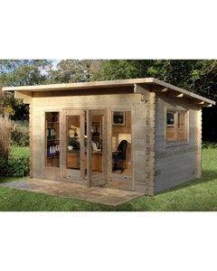 Forest Garden Melbury S/G Log Cabin 4m x 3m 24kg F/R N/U - Unassembled