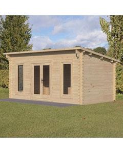 Forest Garden Elmley D/G Log Cabin 5m x 3m 24kg F/R W/U - Unassembled