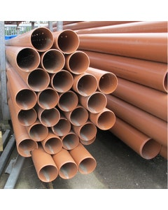 Perforated Drainage Pipe - 110mm x 6m