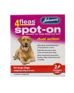 Johnsons 4Fleas Spot On Large Dog - 2 Treatment Pack