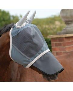 WeatherBeeta Deluxe Grey Fly Mask With Nose - Pony