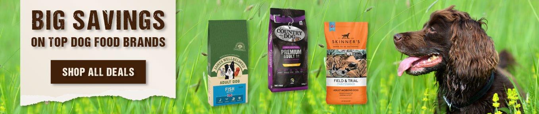 Big savings on top dog food brands