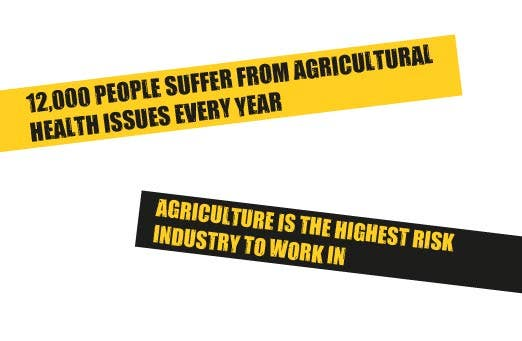 12000 people suffer from agricultural health issues every year