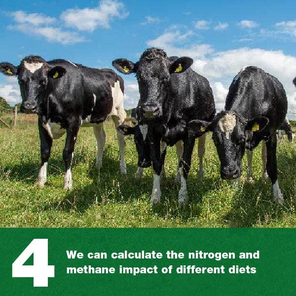 We can calculate the nitrogen and methane impact of different diets
