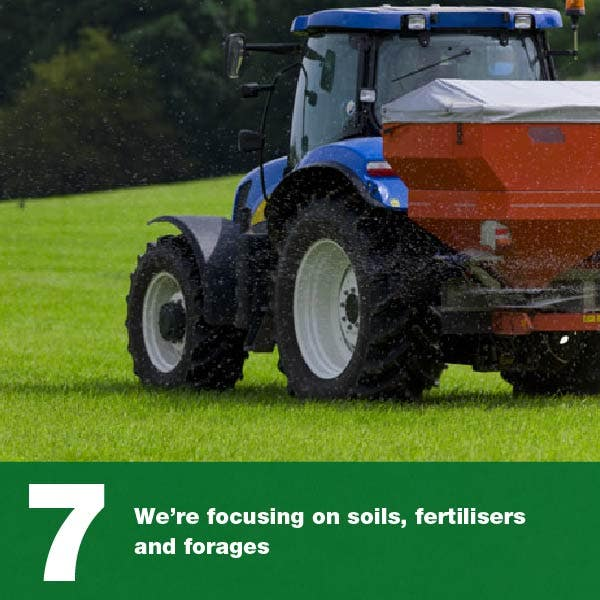 We're focusing on soils, fertiliser and forages