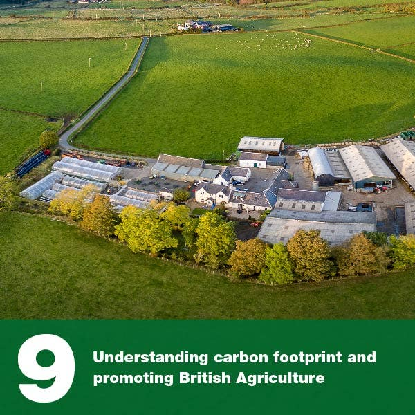 Understanding carbon footprint and promoting British Agriculture